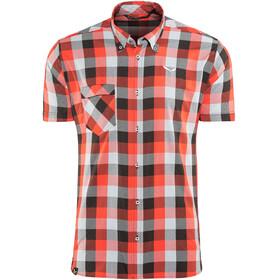 Salewa Puez Ecoya Dry Kortærmet T-shirt Herrer grå/rød